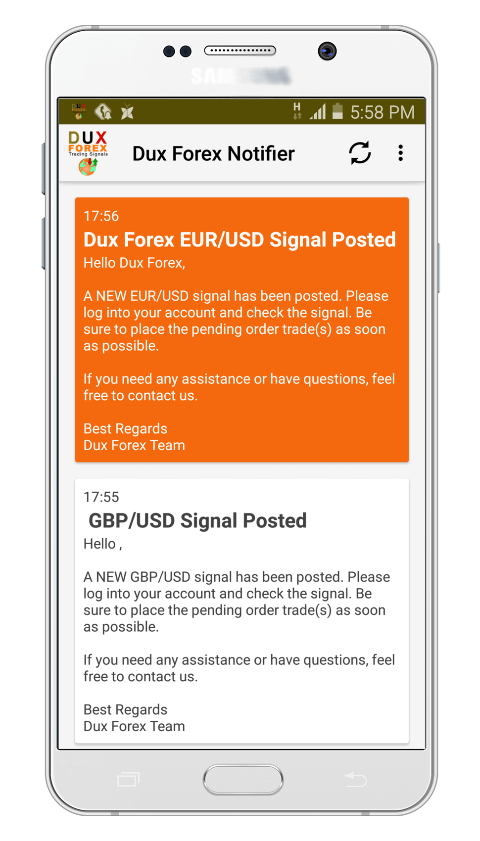 Forex price alert mobile